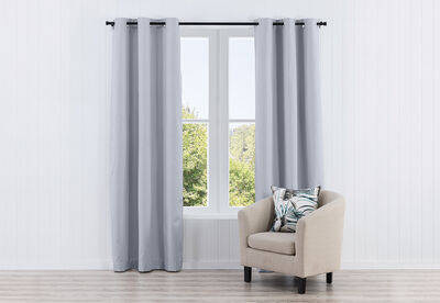 DALLAS - Textured Eyelet - Block Out Curtain 120 x 223cm
