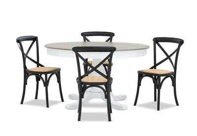 MARSEILLE - 5 Piece Dining Suite with Bordeaux Dining Chairs