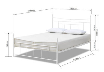 CARTWRIGHT - White Queen Bed