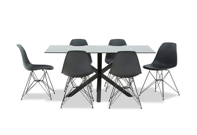 BOULEVARD - 7 Piece Dining Suite with Overo Dining Chairs