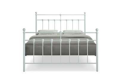 NEWMAN - White Queen Bed