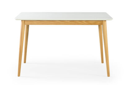 ROMAN - White/Natural 1194 Rectangle Dining Table