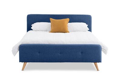 RAINEY - Navy Queen Bed