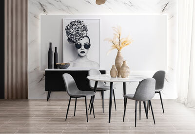 AMARAH - 5 Piece Dining Suite with Benji Dining Chairs