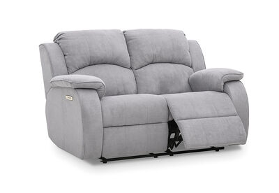 SALOON - Fabric 2 Seater with 2 Inbuilt Electric Recliners