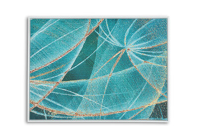 GREEN WAVES - Wall Art 90 x 120cm