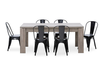 MAJESTY - 7 Piece Dining Suite with Rocket Dining Chairs