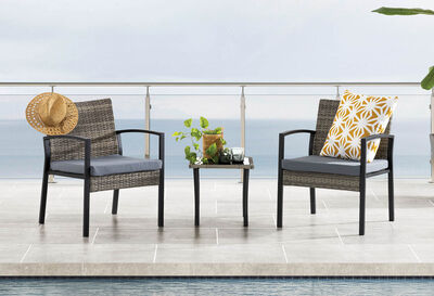 KATRINA - 3 Piece Outdoor Setting