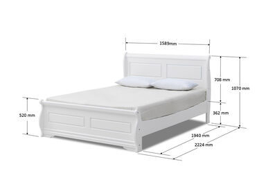 HUDSON BAY - White Queen Bed