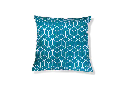 SOLANO - Teal Cubes Outdoor Cushion