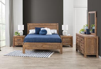 SILVERWOOD - 4 Piece King Dresser Bedroom Suite