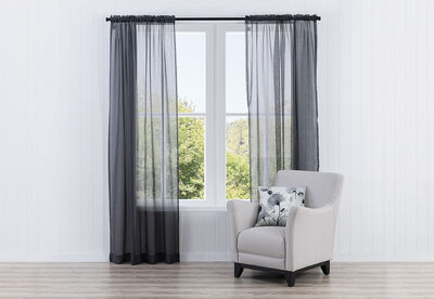 AIREY - Concealed Tab Curtain 135 x 223cm