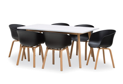 ALYSSA - 7 Piece Dining Suite with Baha Dining Chairs