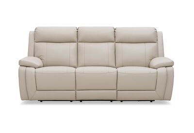 SAN MARCO - Leather 3 Seater Recliner Lounge