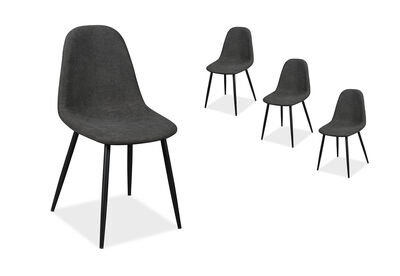 SALTO - Set of 4 Charcoal Dining Chairs