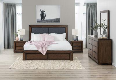 BOULDER - 5 Piece King Dresser Bedroom Suite