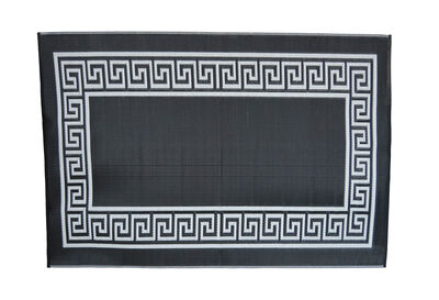 FLORIAN - Black Andreas Key Outdoor Rug