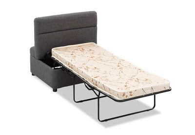 ALECTO - Dark Grey Ottoman Sofa Bed
