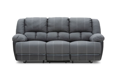 MADDEN - Fabric 3 Seater with 2 Inbuilt Recliners