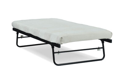 FUNES - Black Single Trundle Bed