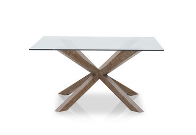 PROMENADE - Square Glass Top Dining Table