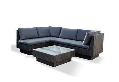 BRENTWOOD - 3 Piece Outdoor Setting with Right-Hand Facing Lounges