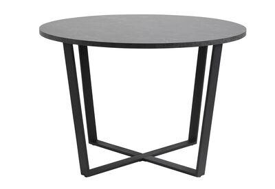 ALVARADO - Black Round Dining Table