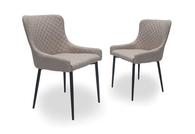 MARTIGNY - Set of 2 Beige Dining Chairs