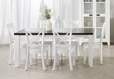 LE FRANSCHHOEK - 7 Piece Dining Suite with Clouds Dining Chairs