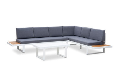 AMARI - Corner Lounge Setting with Coffee Table and Polywood End Tables