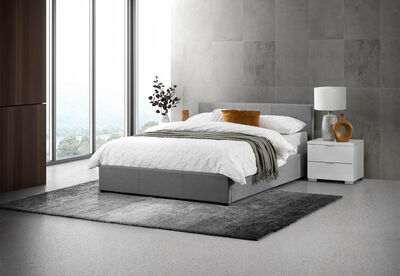 PAGOSA - Light Grey Queen Lift Bed