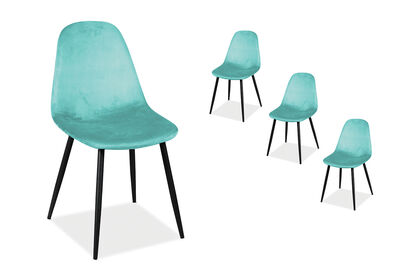 SALTO - Set of 4 Mint Dining Chair