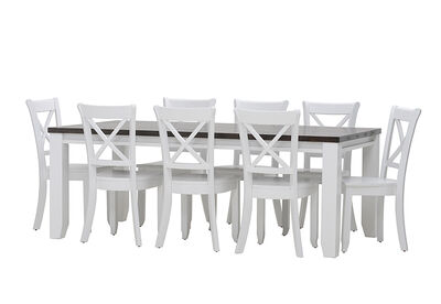 LE FRANSCHHOEK - 9 Piece Dining Suite with Clouds Dining Chairs