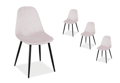 SALTO - Set of 4 Blush Dining Chair