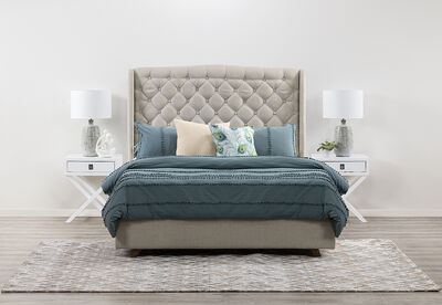 ARAGON - 3 Piece Queen Bedroom Suite With Rosco Bedsides