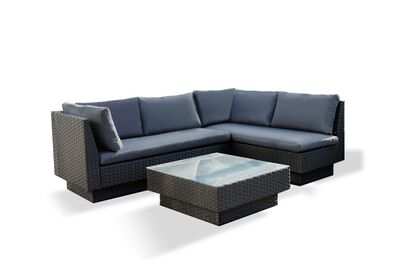 BRENTWOOD - 3 Piece Outdoor Setting with Left-Hand Facing Lounges