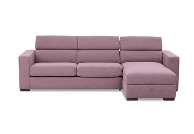 ANGUS - Fabric Right-Hand Facing 3 Seater Chaise with Sofa Bed