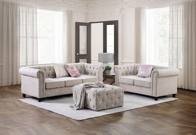 DICKENSON - Fabric Sofa Pair