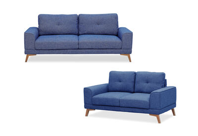 ABBY - Fabric Sofa Pair