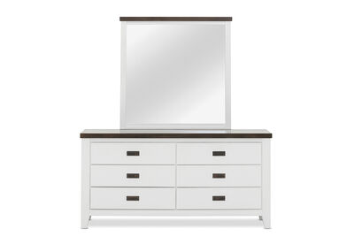 LE FRANSCHHOEK - 6 Drawer Dresser with Mirror