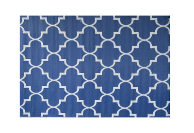 FLORIAN - Blue Trellis Outdoor Rug