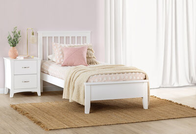DURHAM - White Single Bed