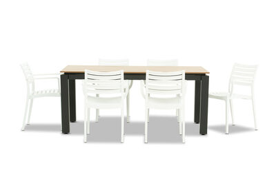 MORNINGTON - 7 Piece Outdoor Dining Setting with Lyla Chairs