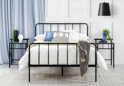 EDINBURGH - Black Double Bed