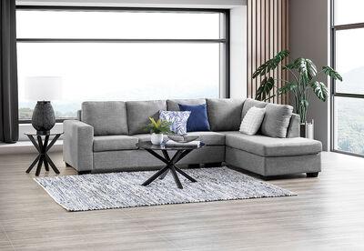 BONZA - Fabric Corner Lounge with RHF Chaise
