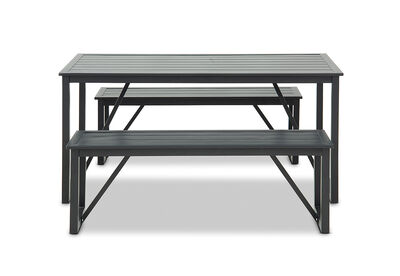 MANSFIELD - 3 Piece Bench Dining Setting