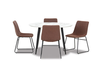 AMARAH - 5 Piece Dining Suite with Loz MK2 Dining Chairs
