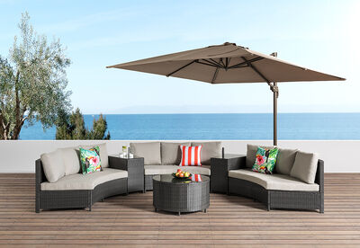 SKYROS - 6 Piece Round Outdoor Lounge Setting