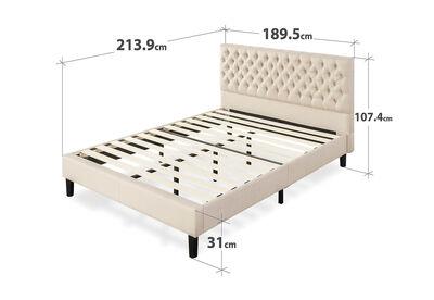 GENNA - Beige King Bed