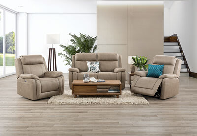 SAN MARCO - Fabric 3 Piece Recliner Suite